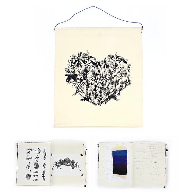 #sketchbook #wildflowersheart wall hanging #art #textiledesign #planetariumdesign #designprocess