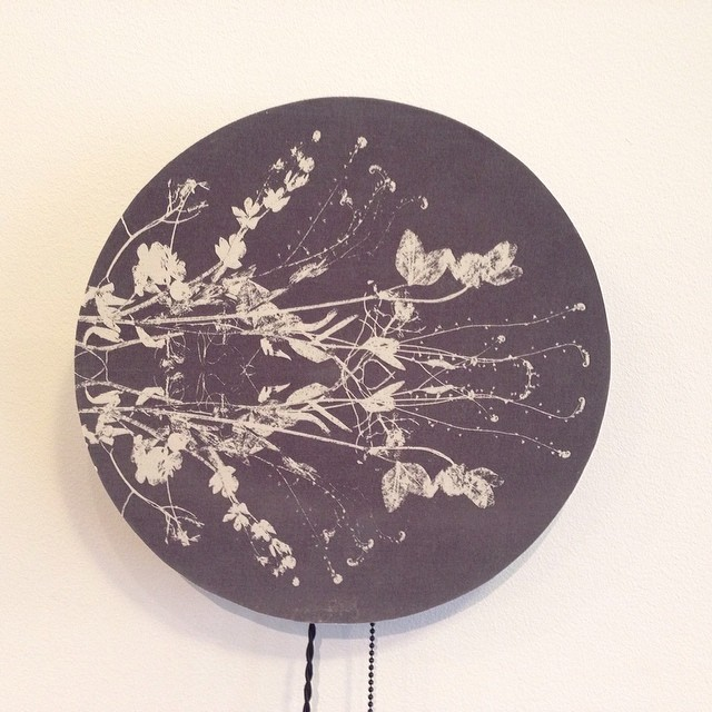 And another one :) #textiledesign #light #fixture #planetariumdesign on display at the @exha gallery through March 22