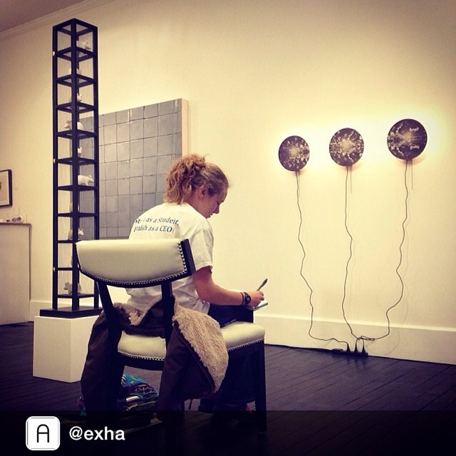 Repost from @exha by #instarepost app @igrepost_app, Some studious-ness going on here at the gallery.