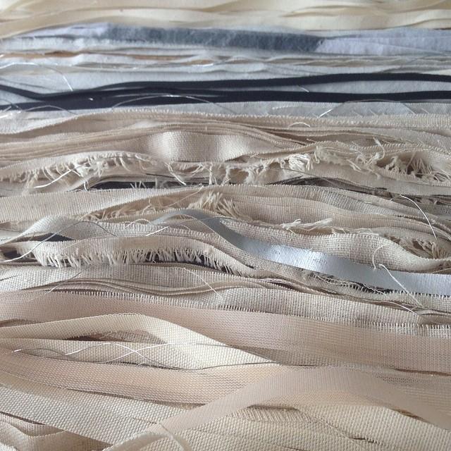 Fabric scraps all cut up :) #textiledesign #planetariumdesign