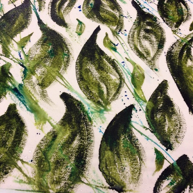 #pattern making #inspired by #nature #textileworkshop