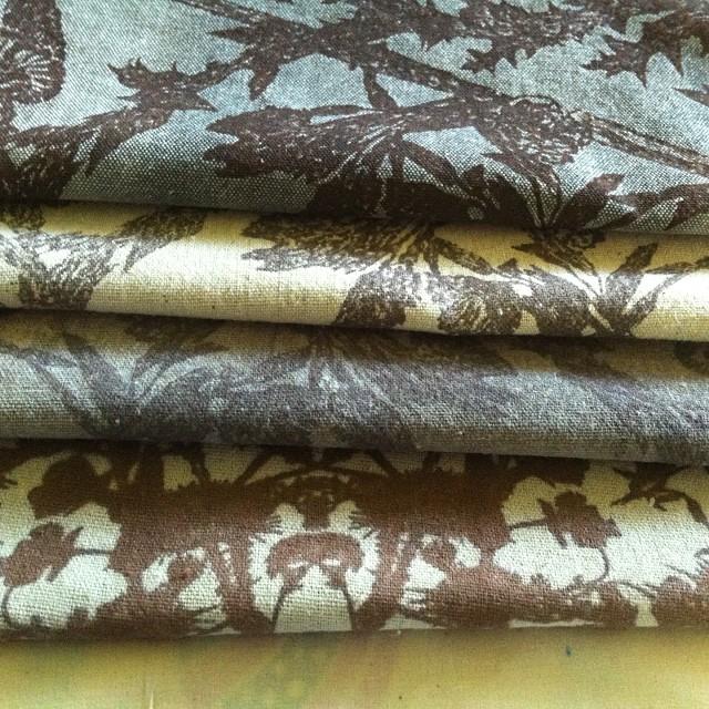 New #fallcolors #screenprinted #fabrics #textiledeisgn for #autumn #planetariumdesign