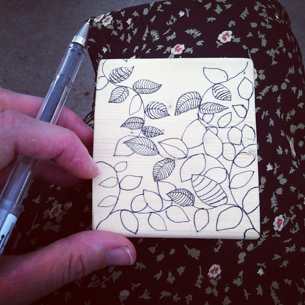 #drawing on #wood #display pieces at the #syracuse #artfestival today!