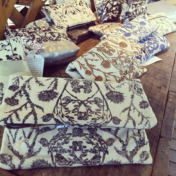 #clutch #bags at the #ithacafarmersmarket by #planetariumdesign #madeinUSA