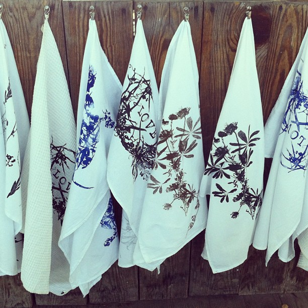Today at the #ithacafarmersmarket #planetariumdesign #floursack #towels