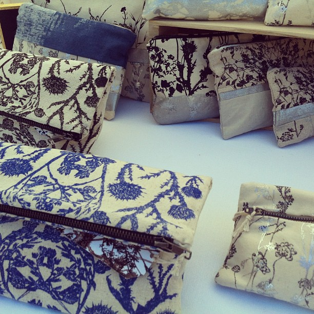#madeinUSA by #planetariumdesign #oneofkind #handprinted #clutch #bags at #cornhillfestival