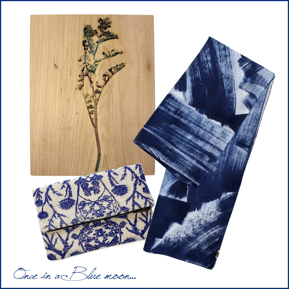 Our new BLUE limited edition - one-of-a-kind prints! Sneak peek! Much more coming soon…