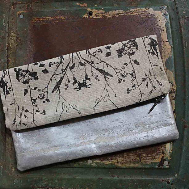 #silver #foil folding #clutch