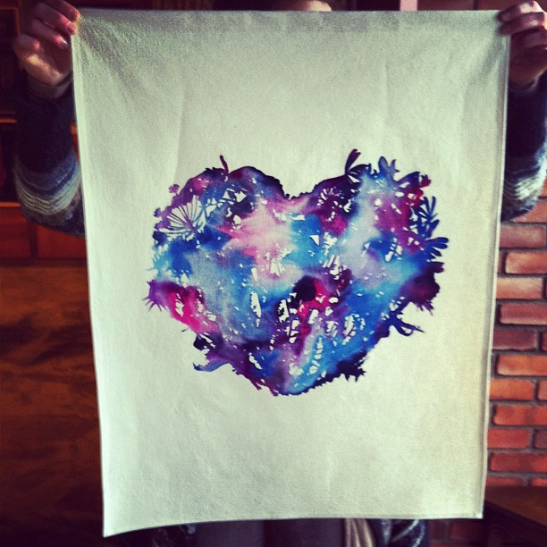 #wildflowers #watercolors #heart #screenprint sewn up and ready to ship!