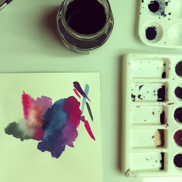 Clean-up time… #dyes #watercolors
