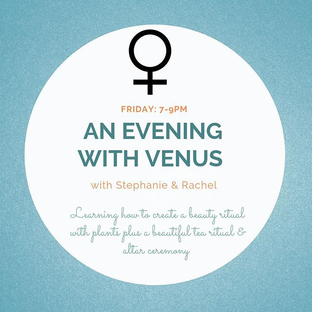 Join Us in Honoring ✨VENUS✨  FRIDAY OCTOBER 19th from 7-9pm . . .  Rachel a Clinical Herbalist: will guide us through a tea ritual, followed by an herbal talk about Venusian herbs and a beautiful plant mediation . . .  Stephanie: a Kundalini Yoga Instructor will help everyone flow through some gentle movement with breath work. Later we will transition into a gentle self administered Qi Gong facial massage with Included Herbal Facial serum. . . . The class will end with a gong sound bath. . . . REGISTER @ GOLDENSOL.ORG/EVENTSWORKSHOPS""