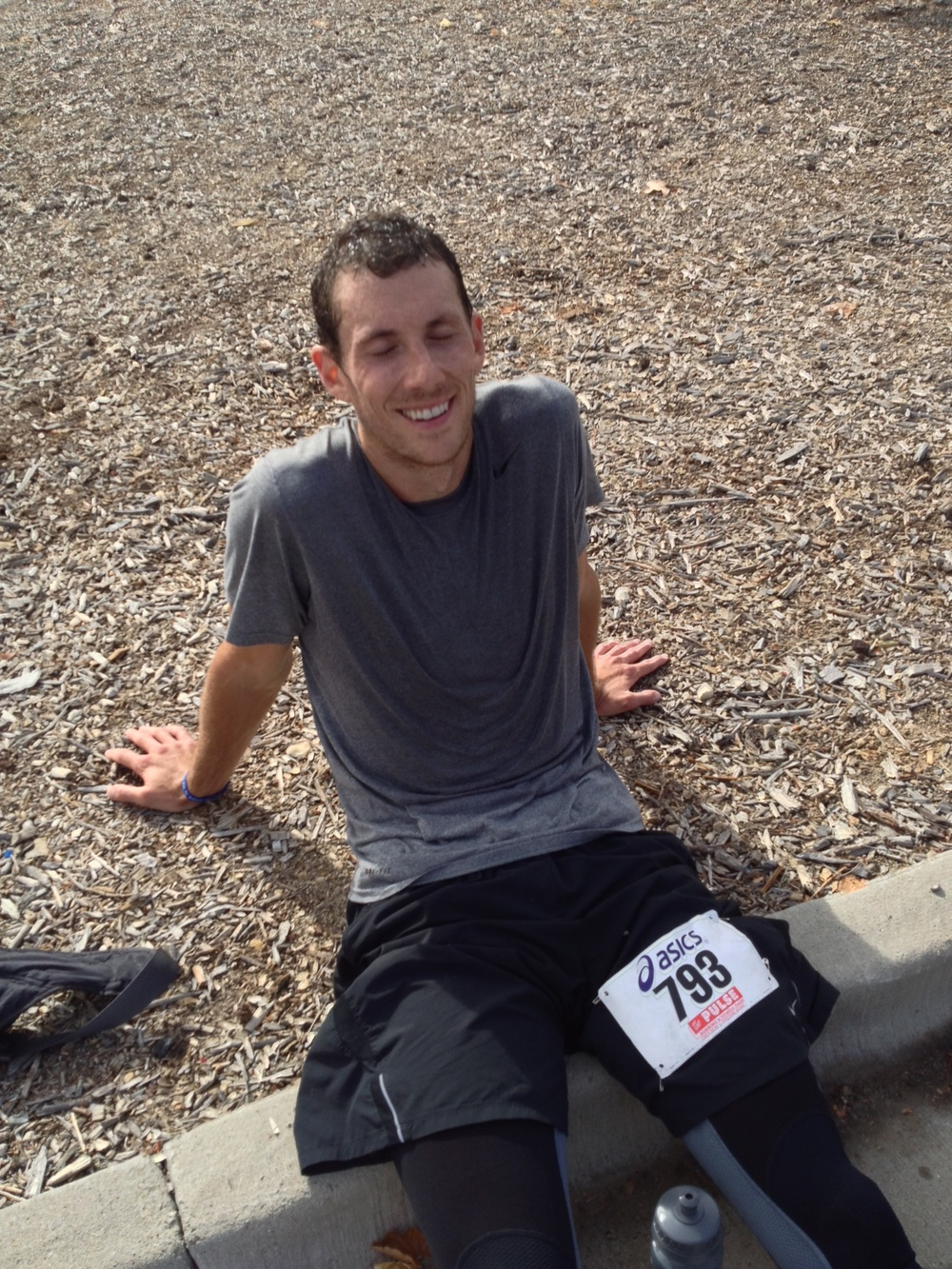 The unfettered joy (and pain!) of the hard-earned finish.