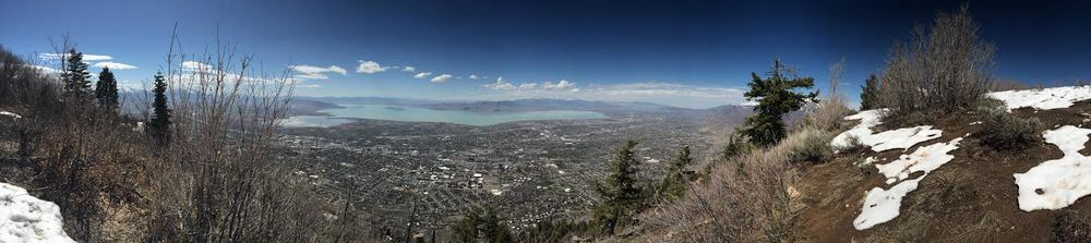 View into Utah County from the summit of Y Mountain.