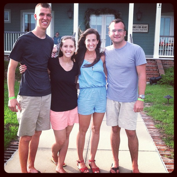 The Stewarts & Steigners celebrating the 4th of July in Pensacola, FL
