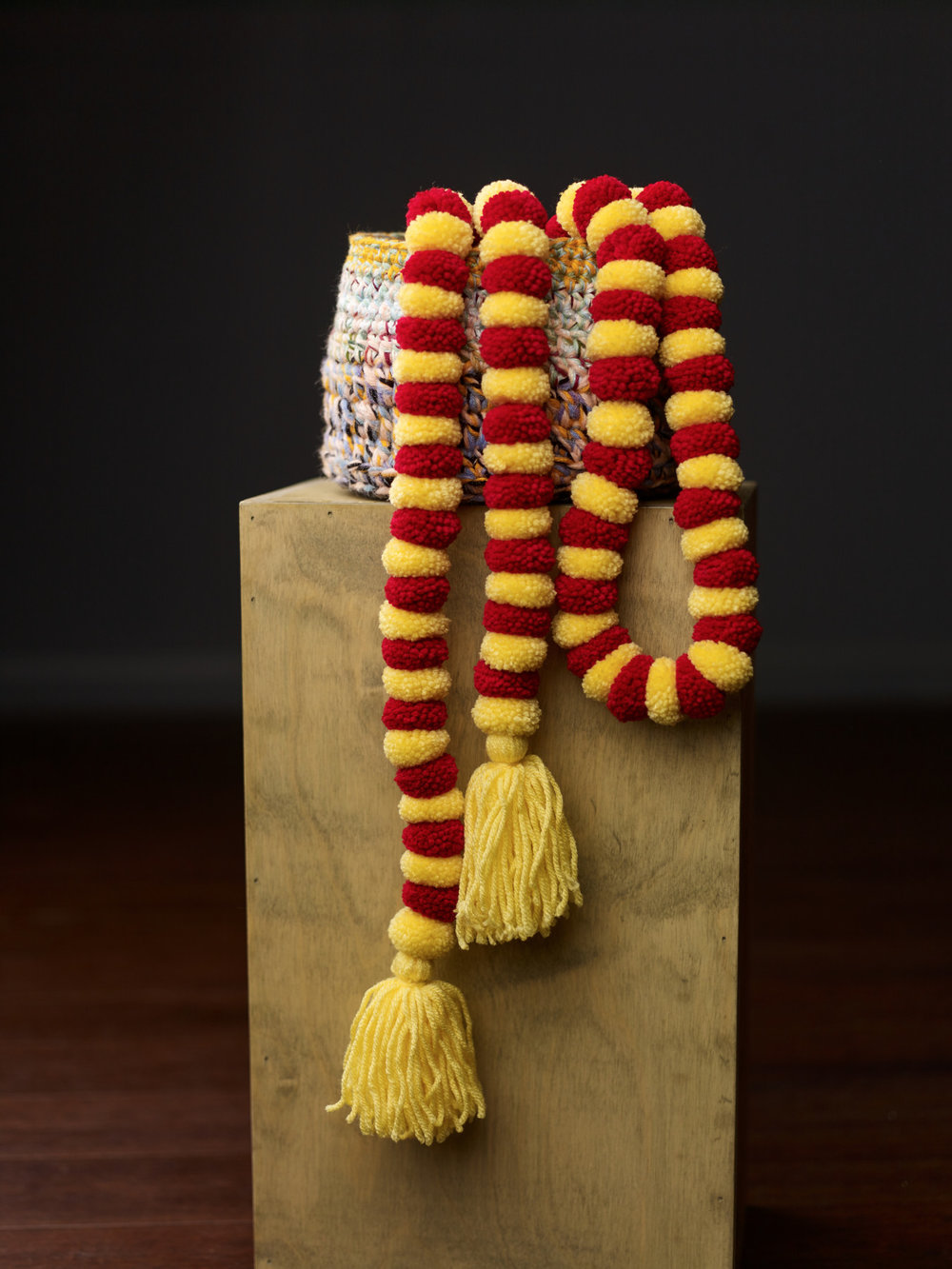 pom pom garland yellow tassels.jpg