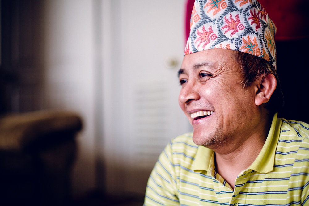 Pictured: Nepali Artist Pratik Raymajhi  Photo by: Chris Holtmeier