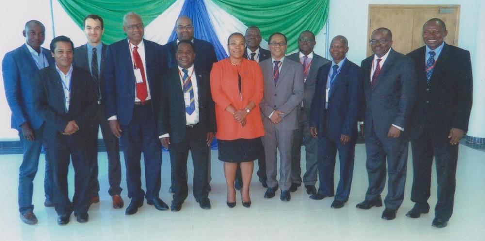 Participants à la réunion sur la Justice du DI à Freetown