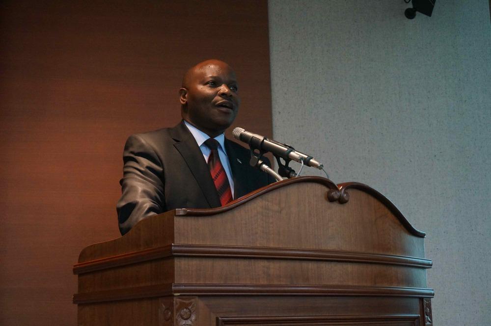 Le Ministre du Plan de la République du Congo , son Excellence Célestine Vunabandi a pronouncé un discours clé.