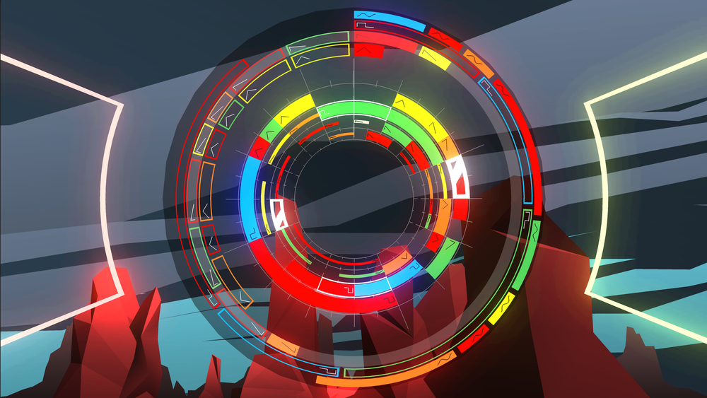 Sentris rhythm puzzle music game for Linux Mac and Windows PC