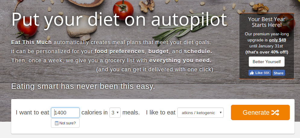 Enter in how many calories you should eat based off your TDEE