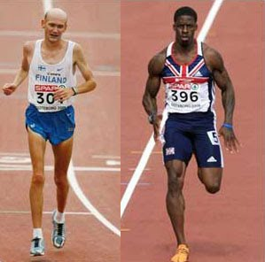 Muscle mass is much more important for sprinters versus long distance runners