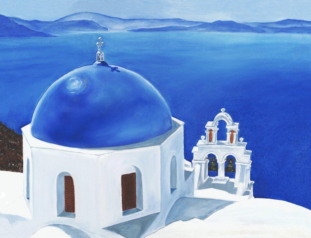 Santorini Midday