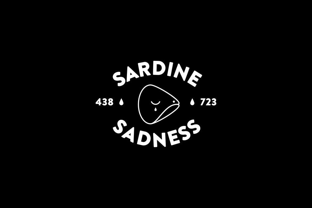 Sardine Sadness was the creation of a short run of tees that stemmed from some serious feelings and life experiences. 2014.