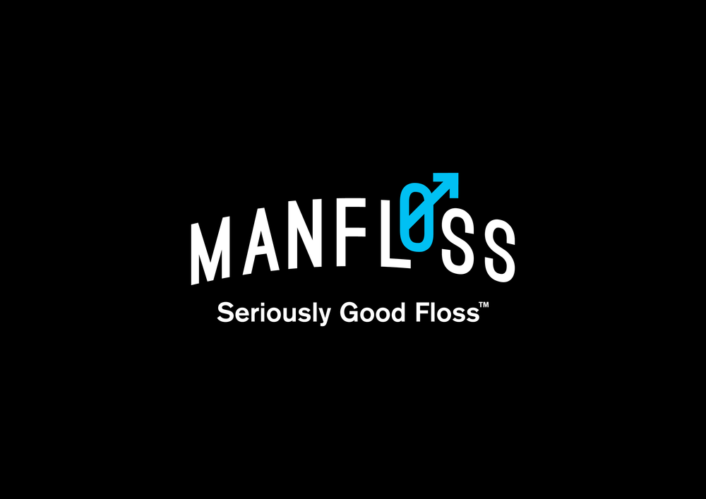 Concept Development at Dessein Design Studio . 2015  Branding  Man Floss is a minty fresh take on traditional floss, tailored for men with its slick black appearance. Man Floss requested a bold, modern brand image, developed for male consumers.