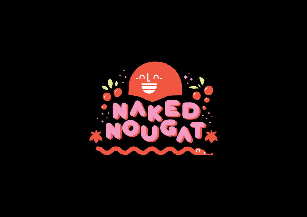 Concept Development at Dessien Design Studio . 2015 Branding & Packaging    Naked Nougat is a local Western Australian sugar and gluten free treat, promoted as a healthy alternative to traditional confectionary. The brand was developed in coherence with 'Adam and Eve's' notion of being naked, playing on the additive free, naked nature of the product.     Naked Nougat bares all serving as the perfect guilt free indulgent.