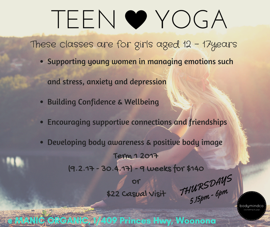 teen-yoga-at-manic-organic-woonona.