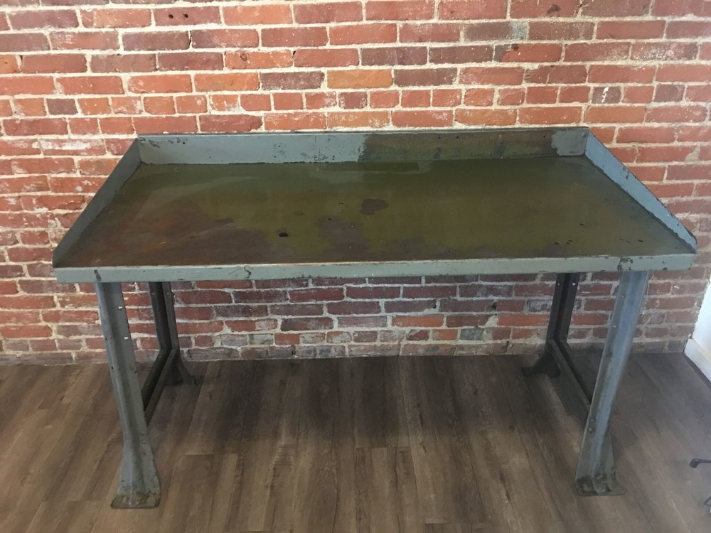 "Antique Metal Drafting Table L 60"" W 29"" H 34"" Quantity: 1"