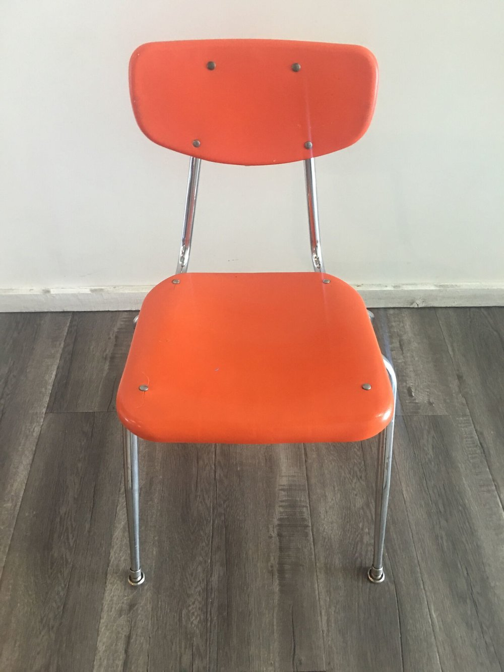 School Chair Orange Quantity: 4