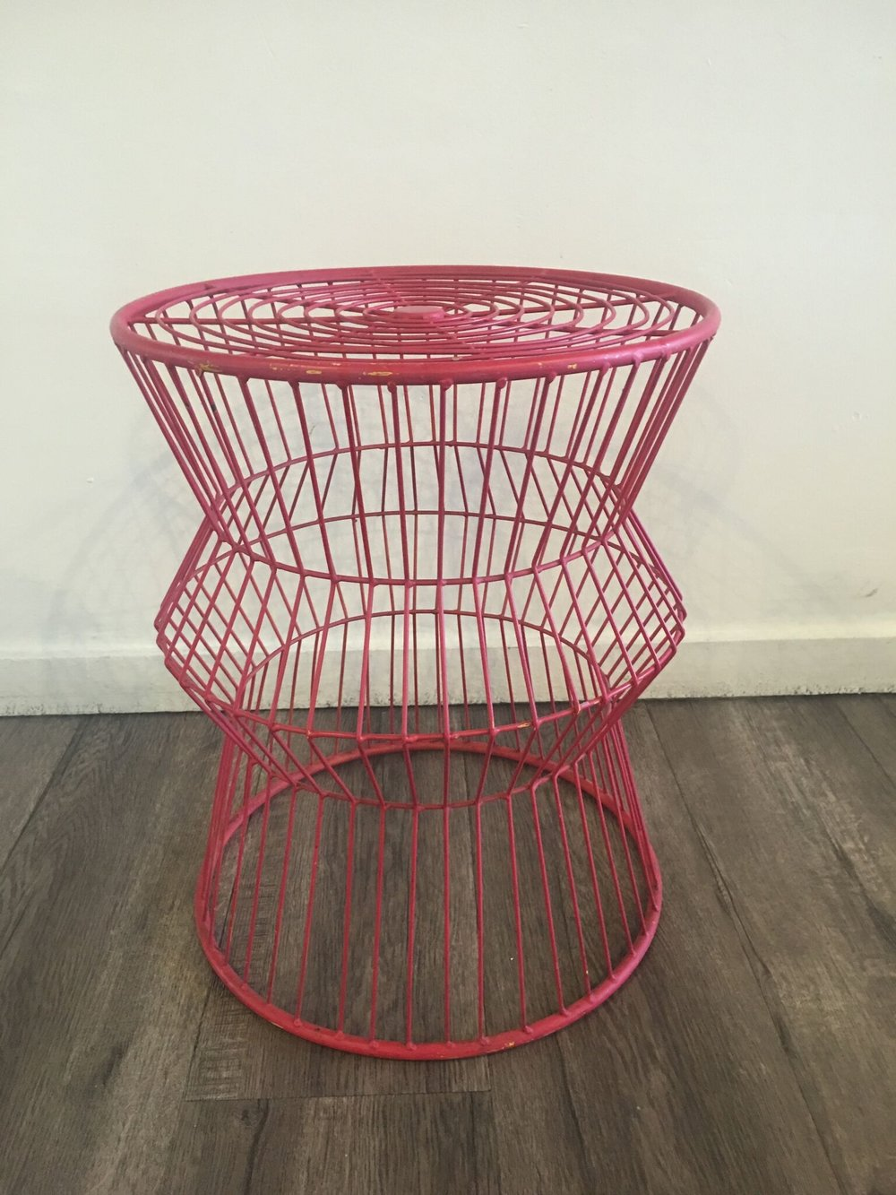 Red Wire Accent Table Quantity: 1