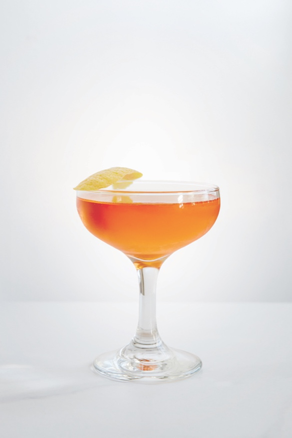 THE JOSHUA TREE  1 oz Chareau  1 oz Tequila  1 oz Aperol     Stir over ice and strain into coupe. Garnish with Lemon twist.