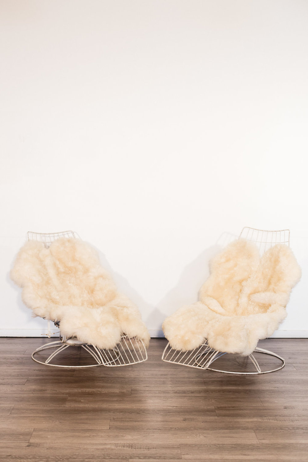 Vintage Metal Lounge With Soft Fur Padding Quantity: 2 Price: $75 EA