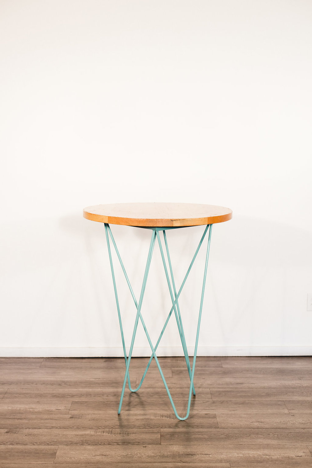 Teal Cocktail Table Quantity: 2 Price $40 Each