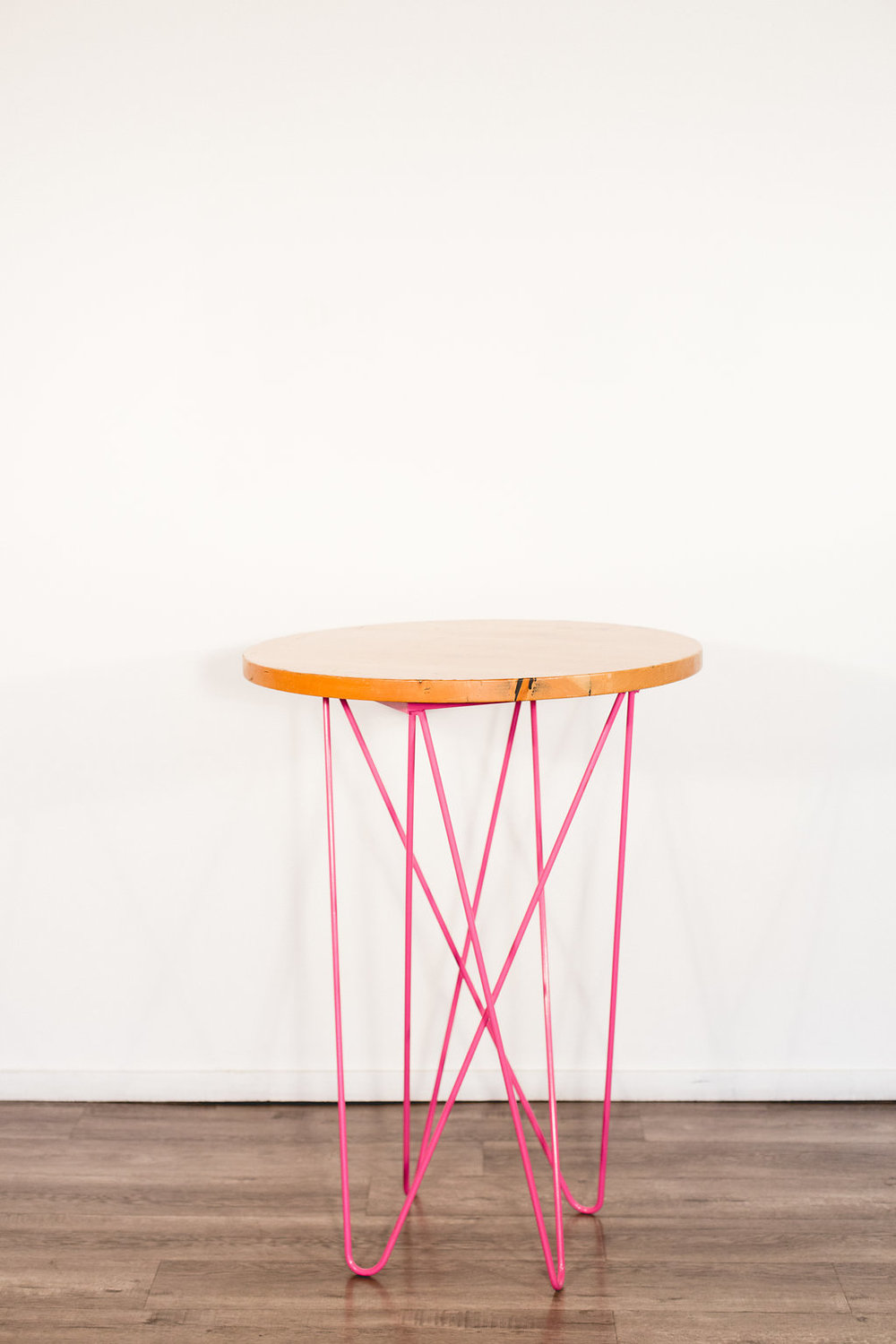 Pink Cocktail Table Quantity: 1 Price: $40
