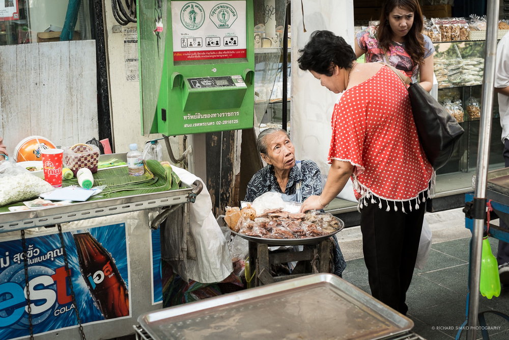 Old lady street vendor