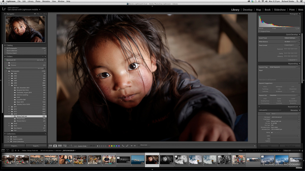 Starting in Lightroom