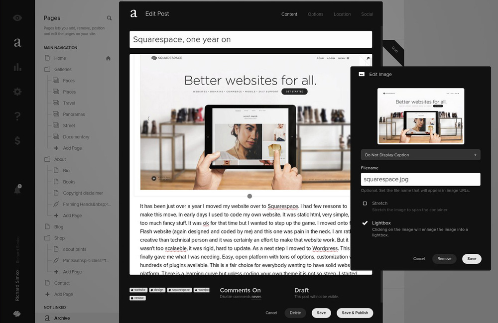 Back-end. I am editing this very post