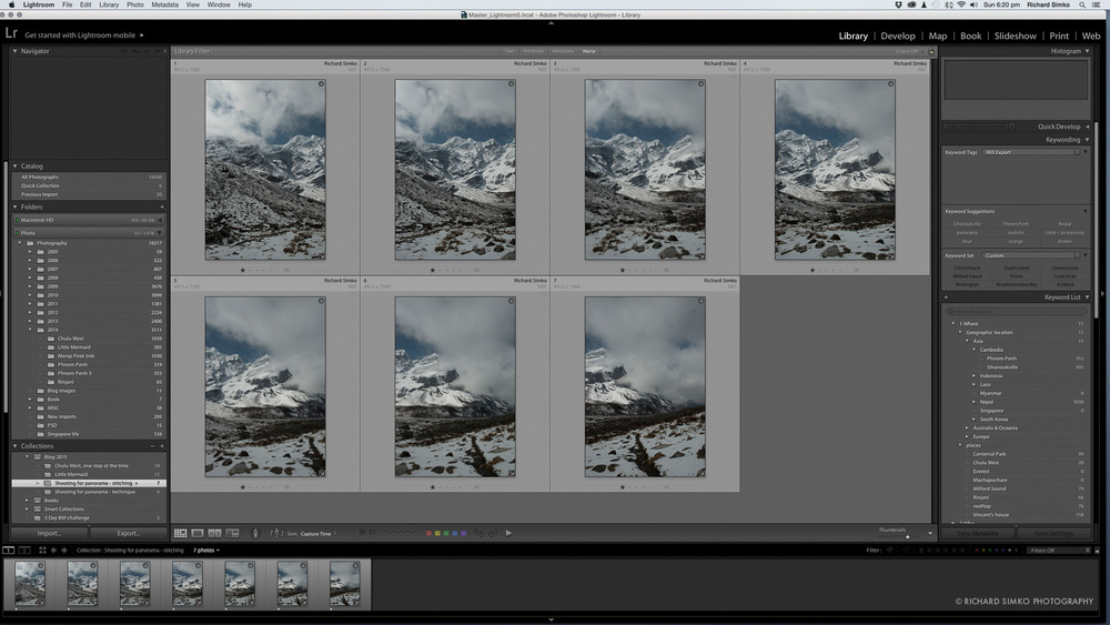 1. Reviewing images in Lightroom