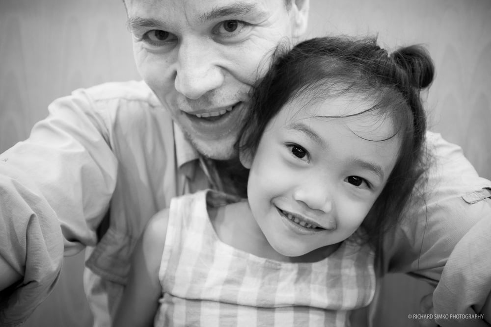 "This is one of the few selfies I have taken and definitely my favourite. It is no secret, I have a ""fatherly"" feeling for this little angel. Every time I visit Cambodia I find time to see her and we always have tons of fun on playground, beach or restaurant. Love you Little Mermaid."