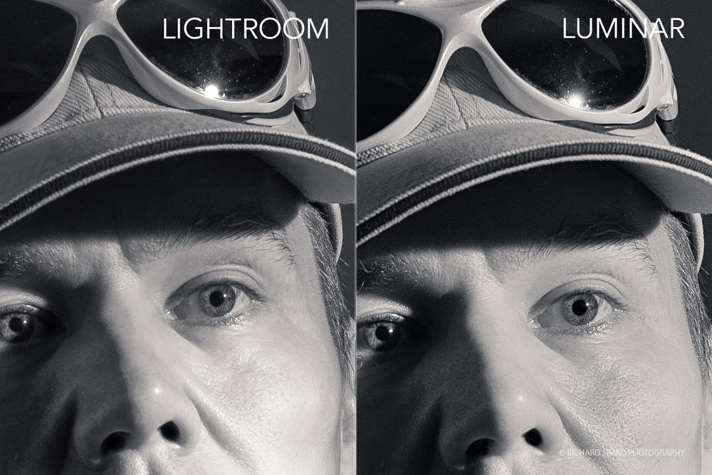 Lightroom vs Luminar - skin rendering detail where both applications did a good job.