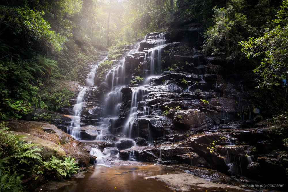 One of the many cascaded on Wentworth Falls hike
