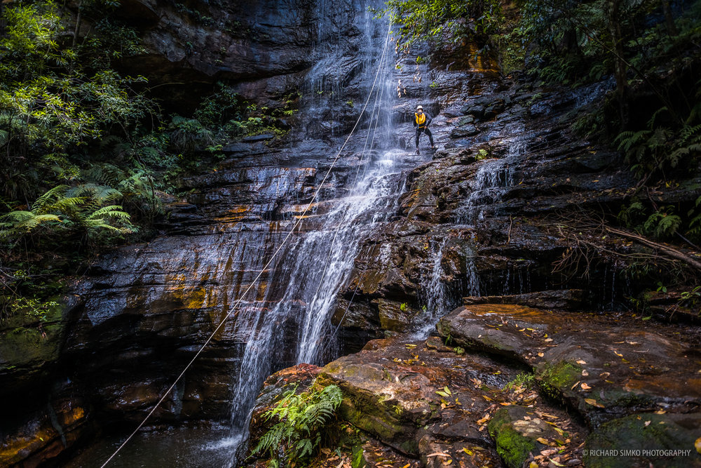 Canyoning at Wentworth Falls.