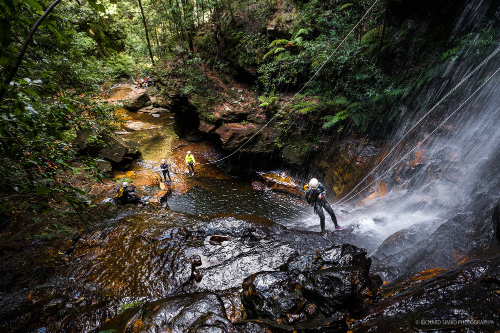 Canyoning at Wentworth Falls track