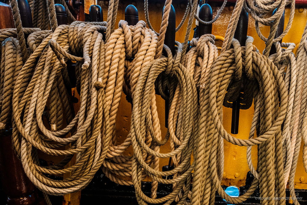The number of ropes and coils is overwhelming,