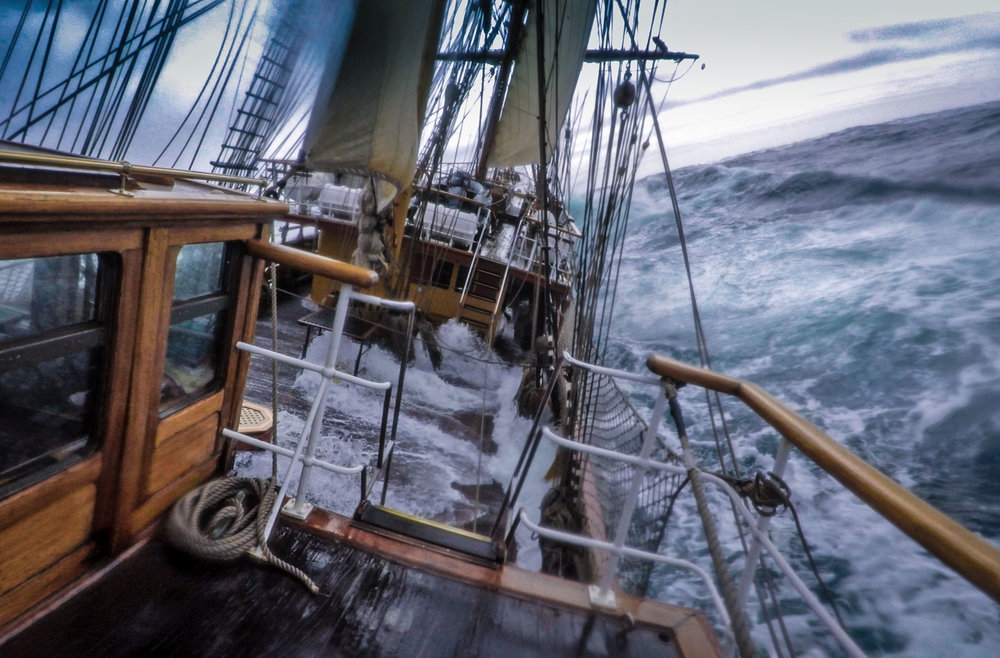 Still a very calm Drake Passage. A GoPro video screen grab.