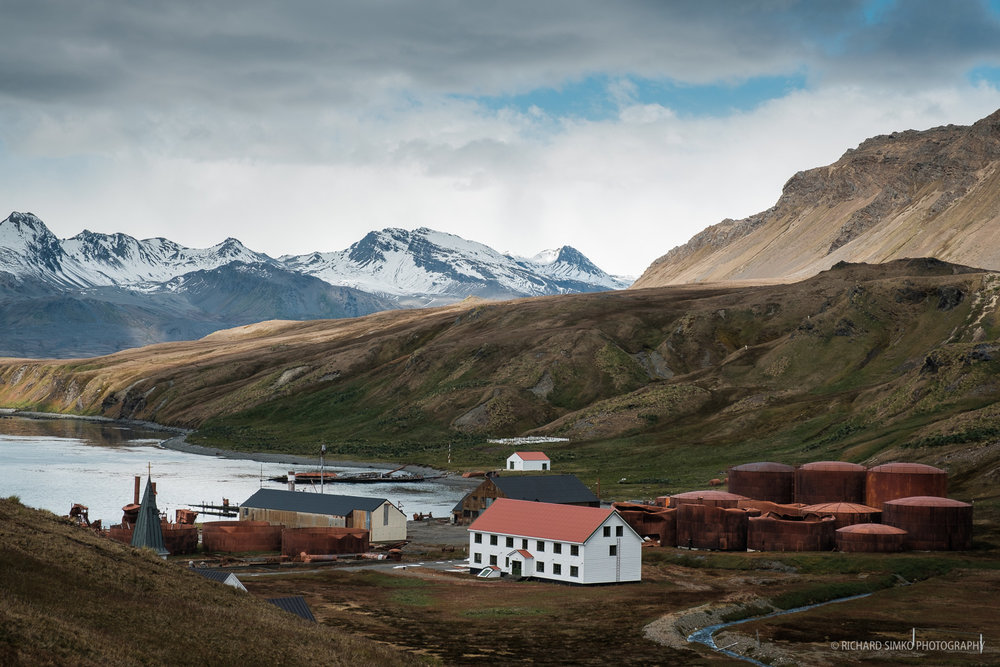 Grytviken. The remains of the old whaling station are the only one in South Georgia that is possible to visit.