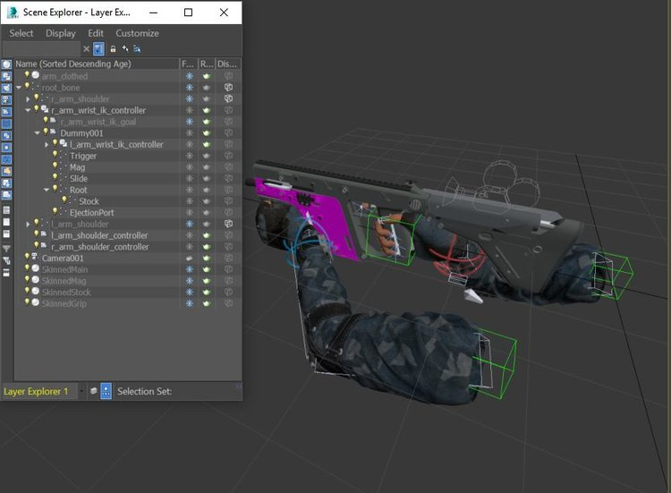 Complete FPS Arms Rig and Animation Tutorial from 3ds Max to UE4